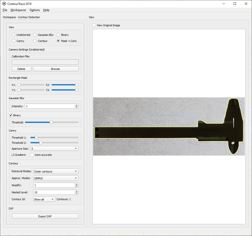 ContourTrace 2019 – Convert Image to DXF format – KUHN ENGINEERING